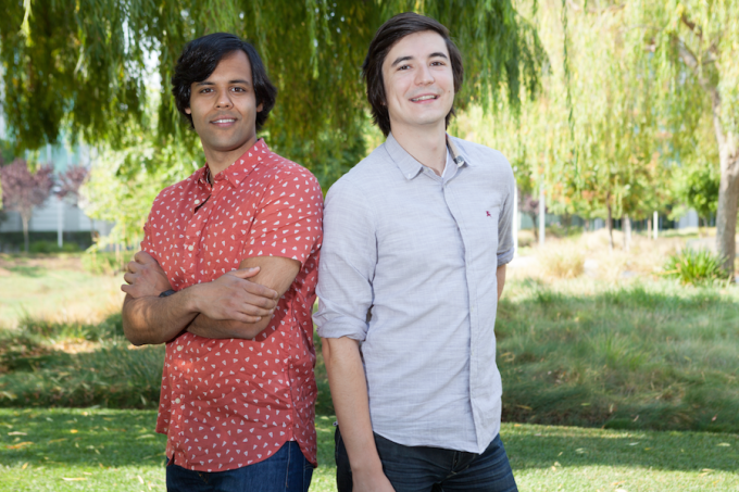 Robinhood founders Baiju Bhatt (left) and Vladamir Tenev (right)