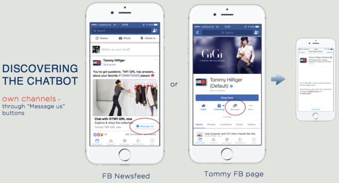 62f41054 Facebook steps in to prove the value of chatbots with Tommy Hilfiger ...