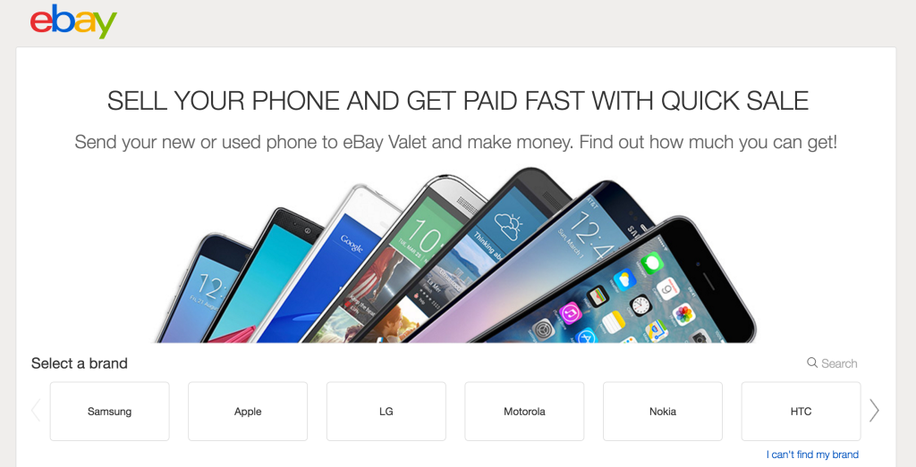 Ebay Launches A Smartphone Trade In Site Called Quick Sale Techcrunch