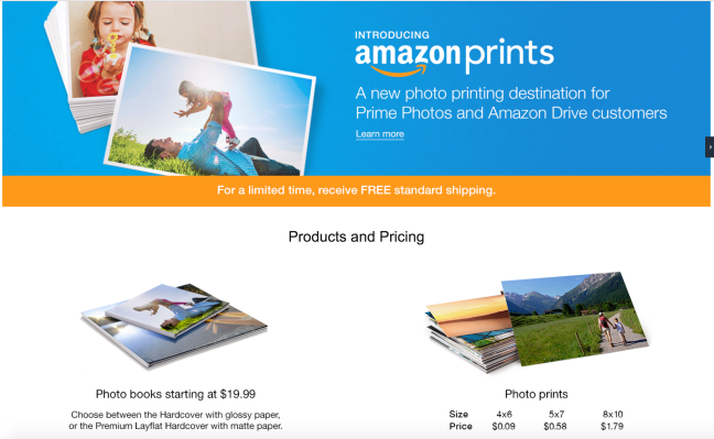 amazon undercuts rivals with launch of new photo printing service