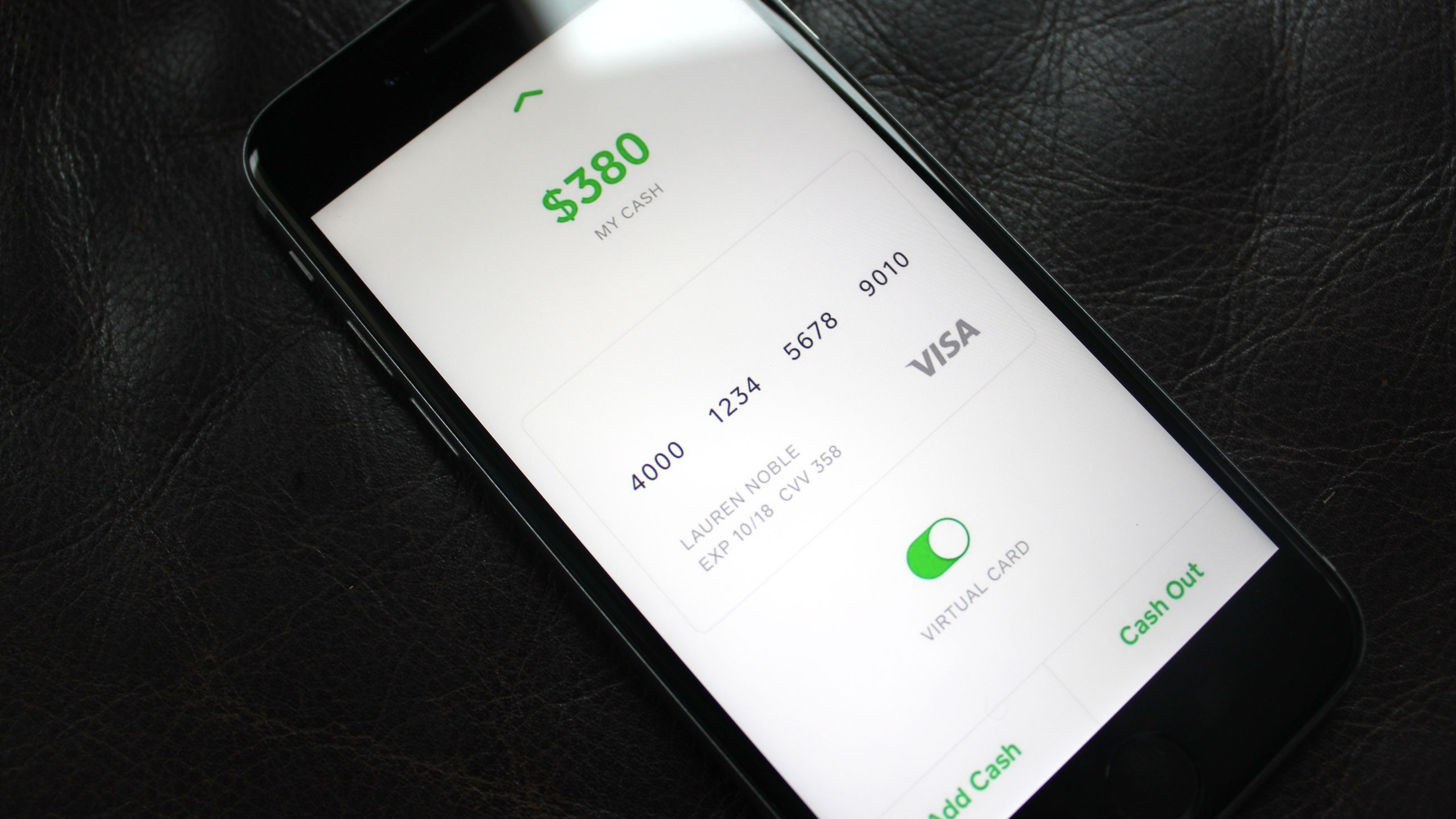 Square Cash users can now spend their balance with a virtual debit