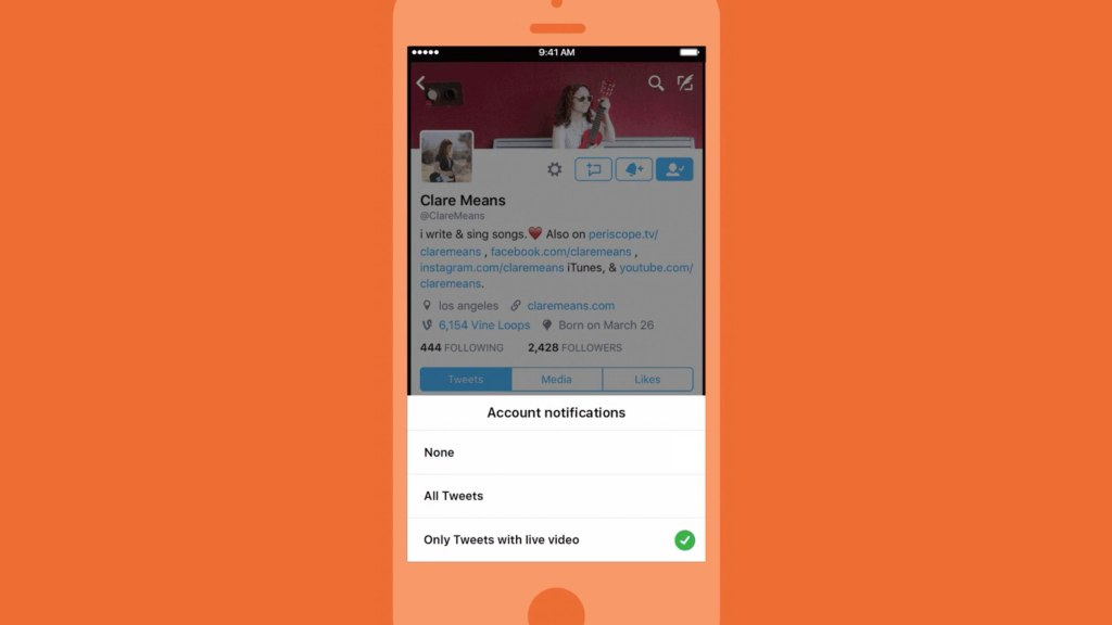 Twitter can now alert you when someone you follow starts
