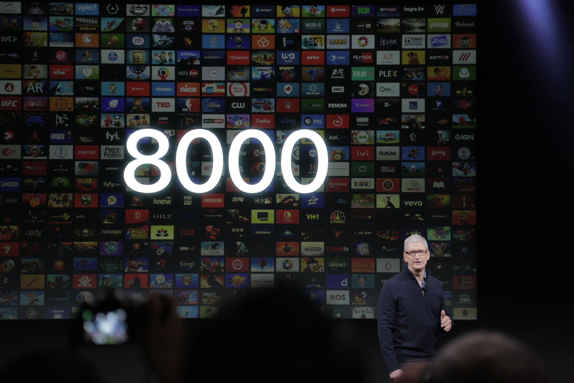 Apple TV App Store has 8,000 apps, 2,000 of which are games