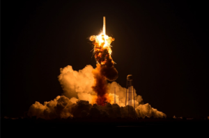 Orbital ATK Antares rocket explosion on October 28th 2014 / Image courtesy of NASA
