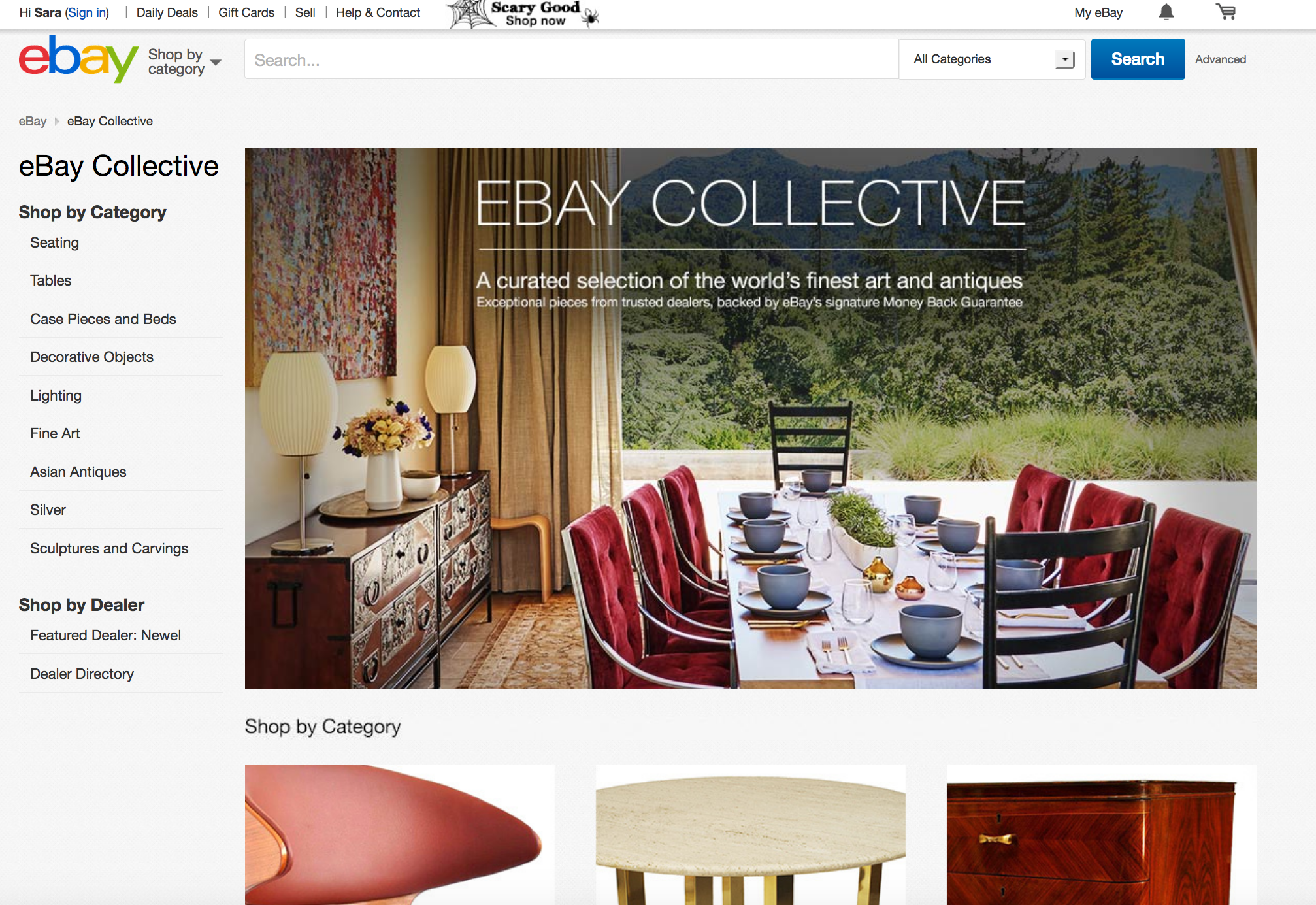 eBay s new high end furniture shop eBay Collective includes a