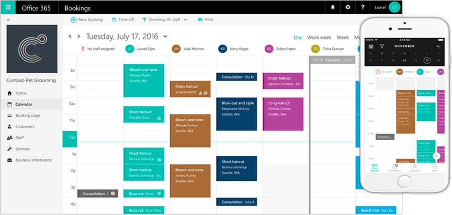 Microsoft's new appointment scheduling service Bookings now works