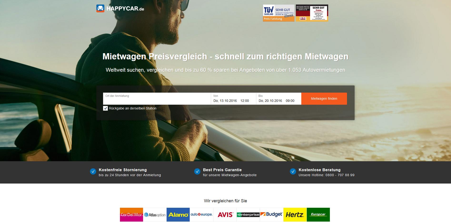 Car Rental Websites >> Car Rental Comparison Site Happycar Picks Up 2 6m Funding