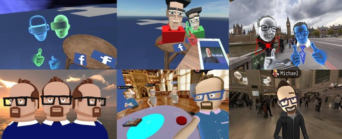 The evolution of Facebook Social VR, from blocky generic characters to life-like custom avatars that can express emotion