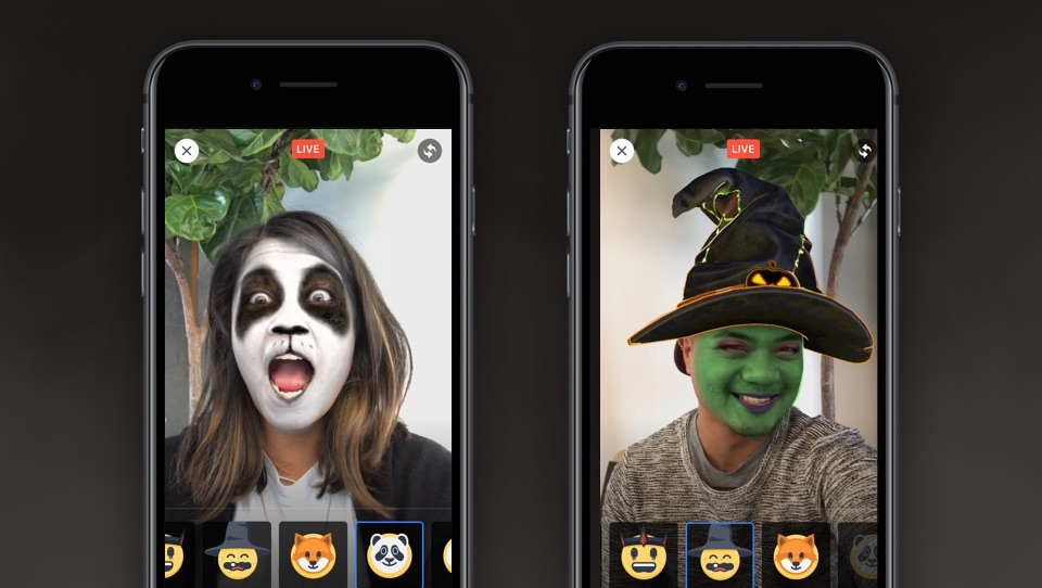 """Facebook launches augmented reality selfie """"masks"""" for Live video"""