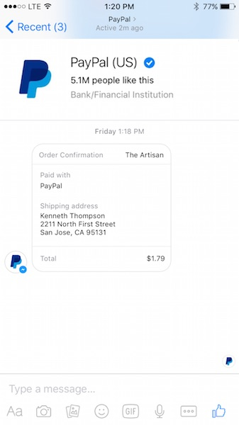 Paypal Support Chat