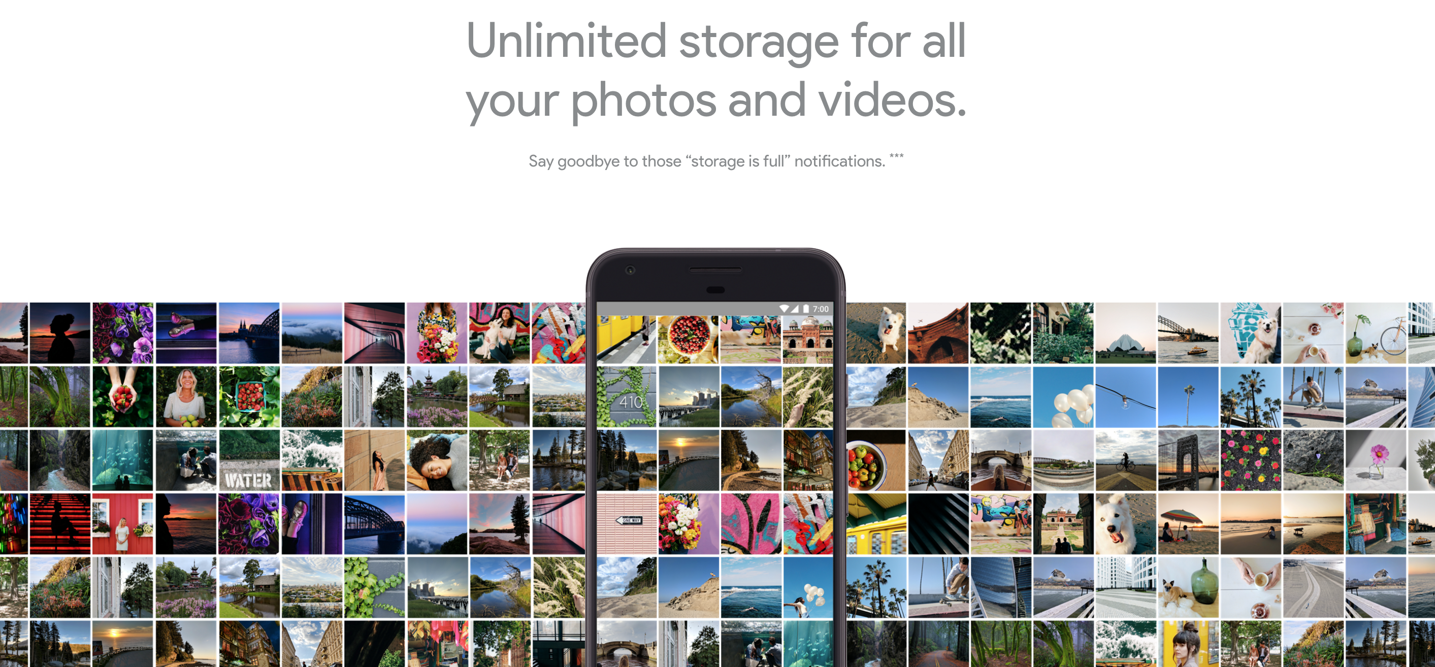 google photos unlimited storage for free