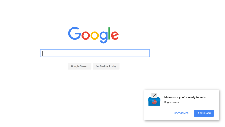 7f3605885d Google is running home page ads pushing people to get registered to ...
