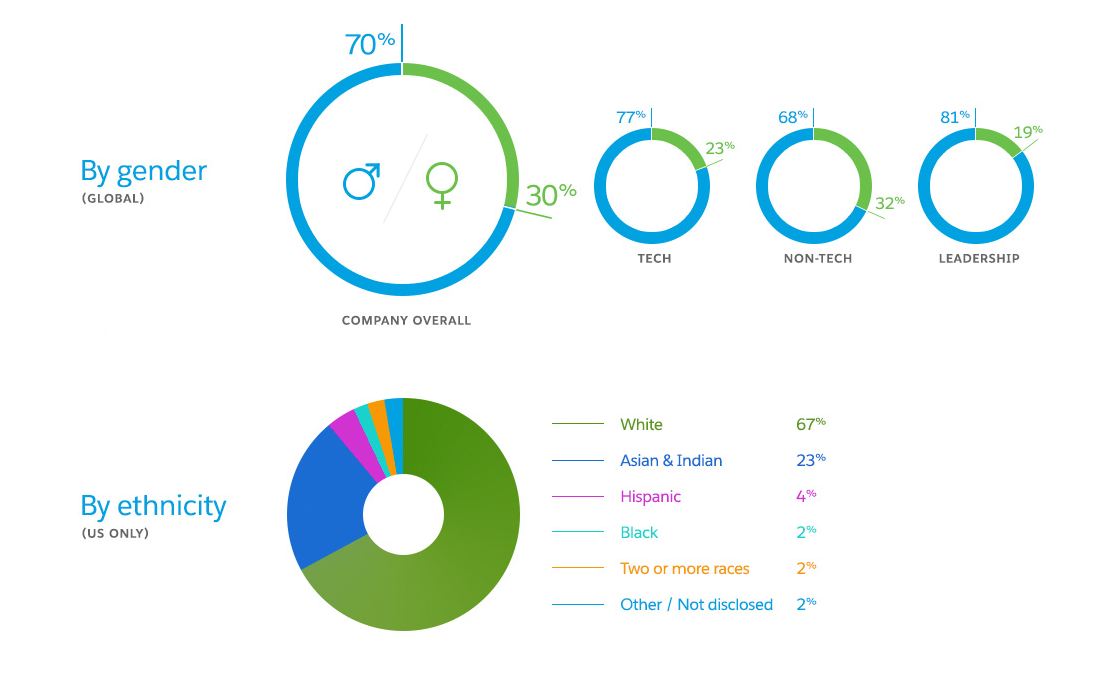 salesforce diversity as of aug 2015