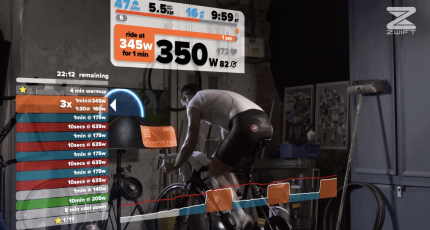 Zwift merges indoor fitness with massive multi-player online