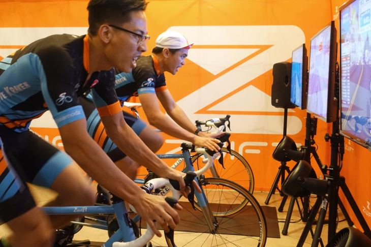 Zwift, a multiplayer game that's making indoor athletics more social