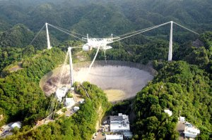 The Arecibo Telescope in Puerto Rico / Image courtesy of the National Astronomy and Ionosphere Center