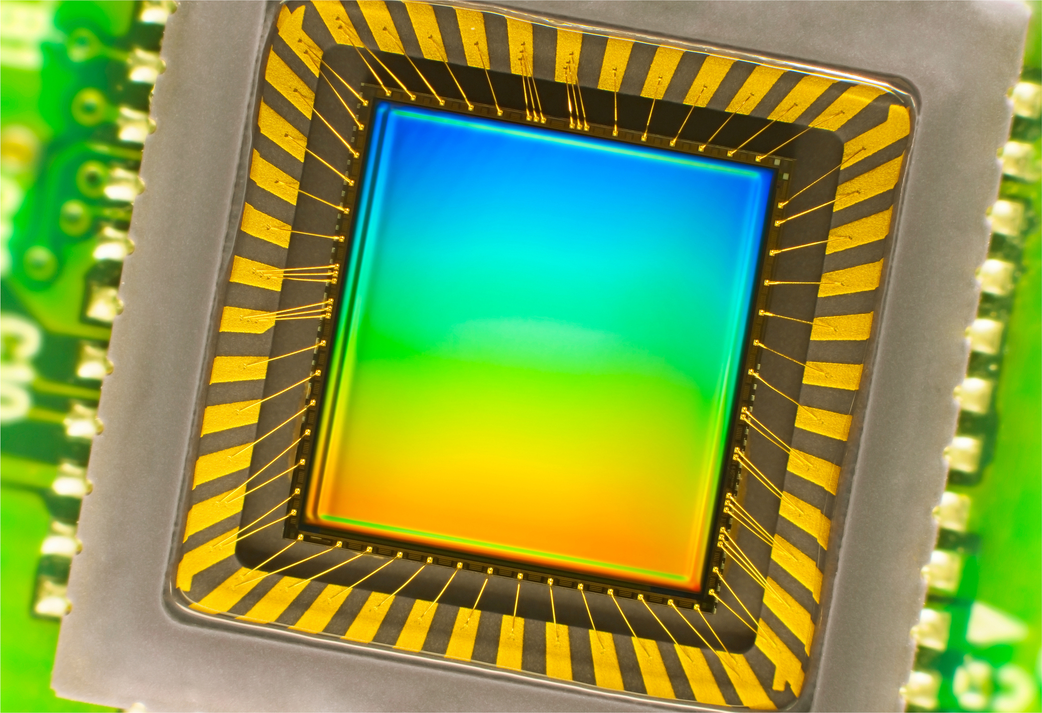 An image sensor one might find in a digital camera.
