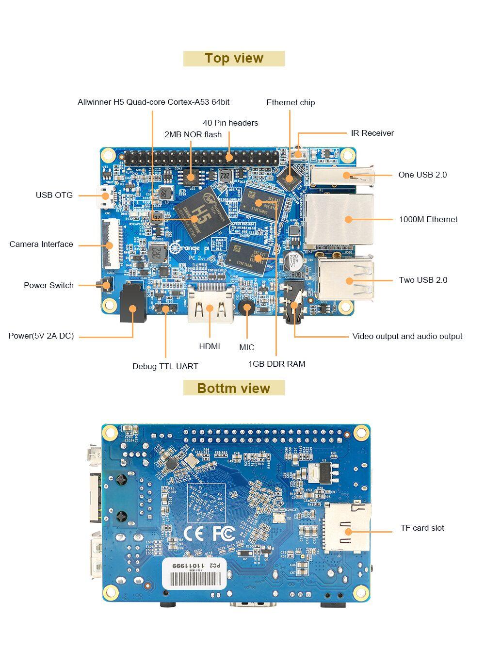 The new 64-bit Orange Pi is a quad-core computer for $20 | TechCrunch