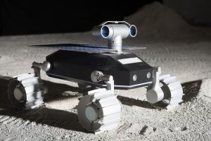 Illustration of TeamIndus Rover on the Moon / Image courtesy of TeamIndus