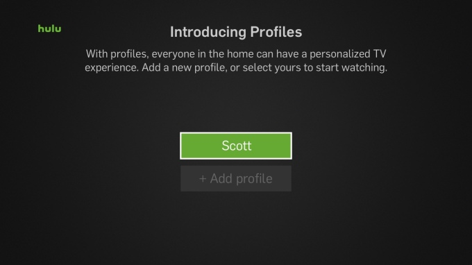 how to delete profiles on hulu app