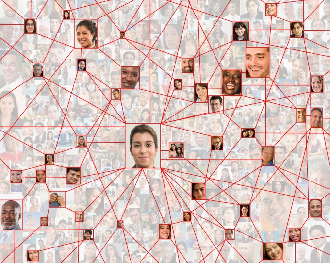Employees in connected in social network web