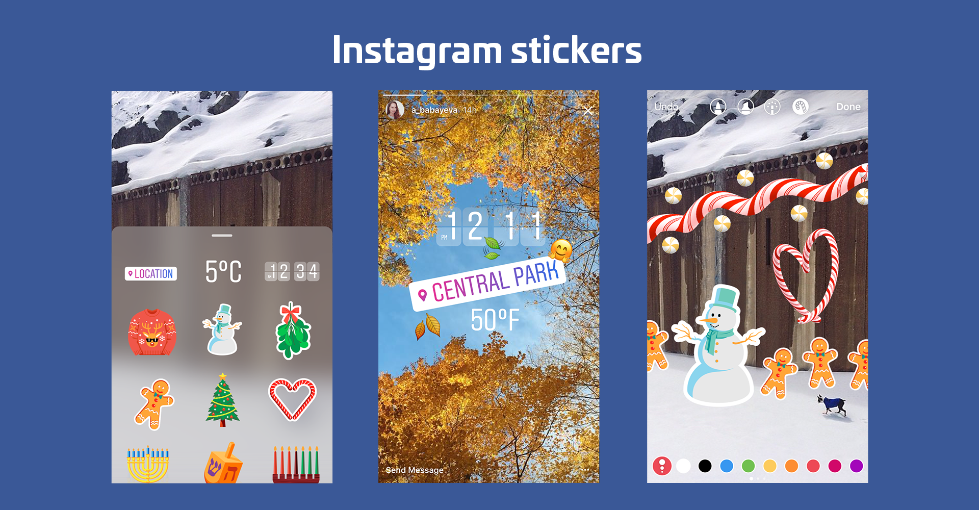Instagram stories launches overlaid stickers for locations emoji instagram stories launches overlaid stickers for locations emoji and seasons techcrunch ccuart Gallery