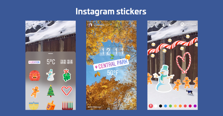 Instagram stories launches overlaid stickers for locations emoji instagram stickers ccuart Gallery