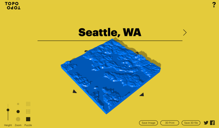 These Custom Dprinted Topographical Maps Could Make Nice Stocking - Print topo maps