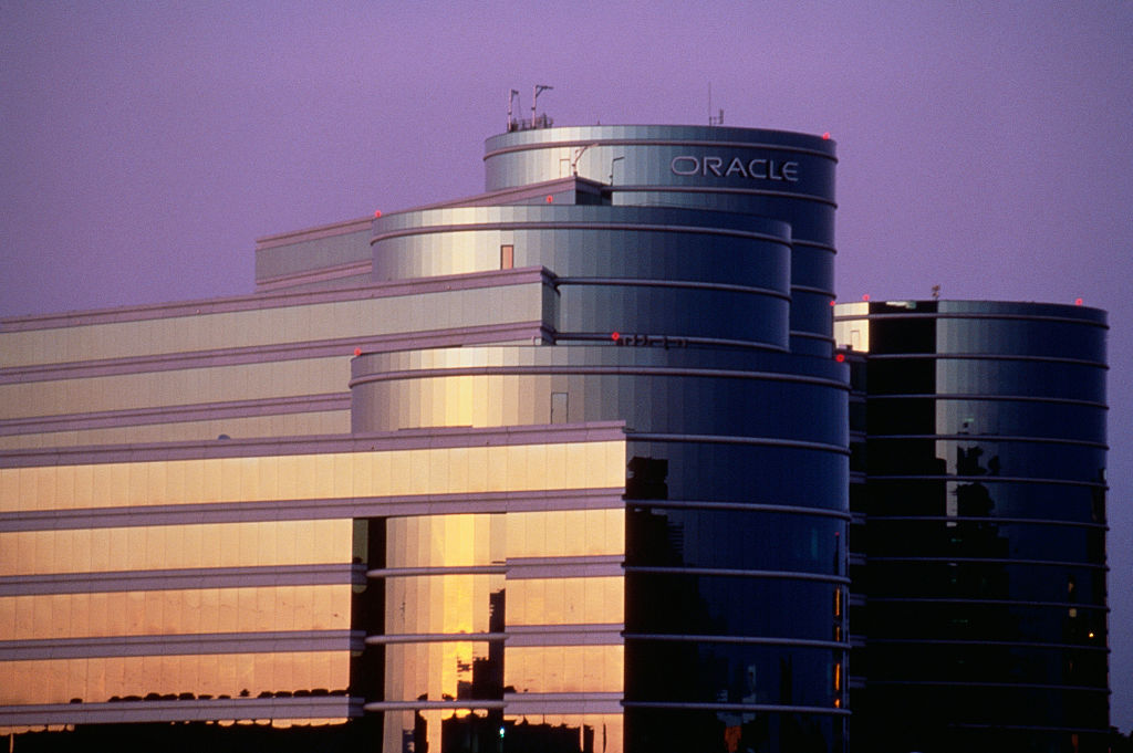 Oracle Office Buildings at Silicon Valley Headquarters (Photo by ?? Christopher J. Morris/CORBIS/Corbis via Getty Images)