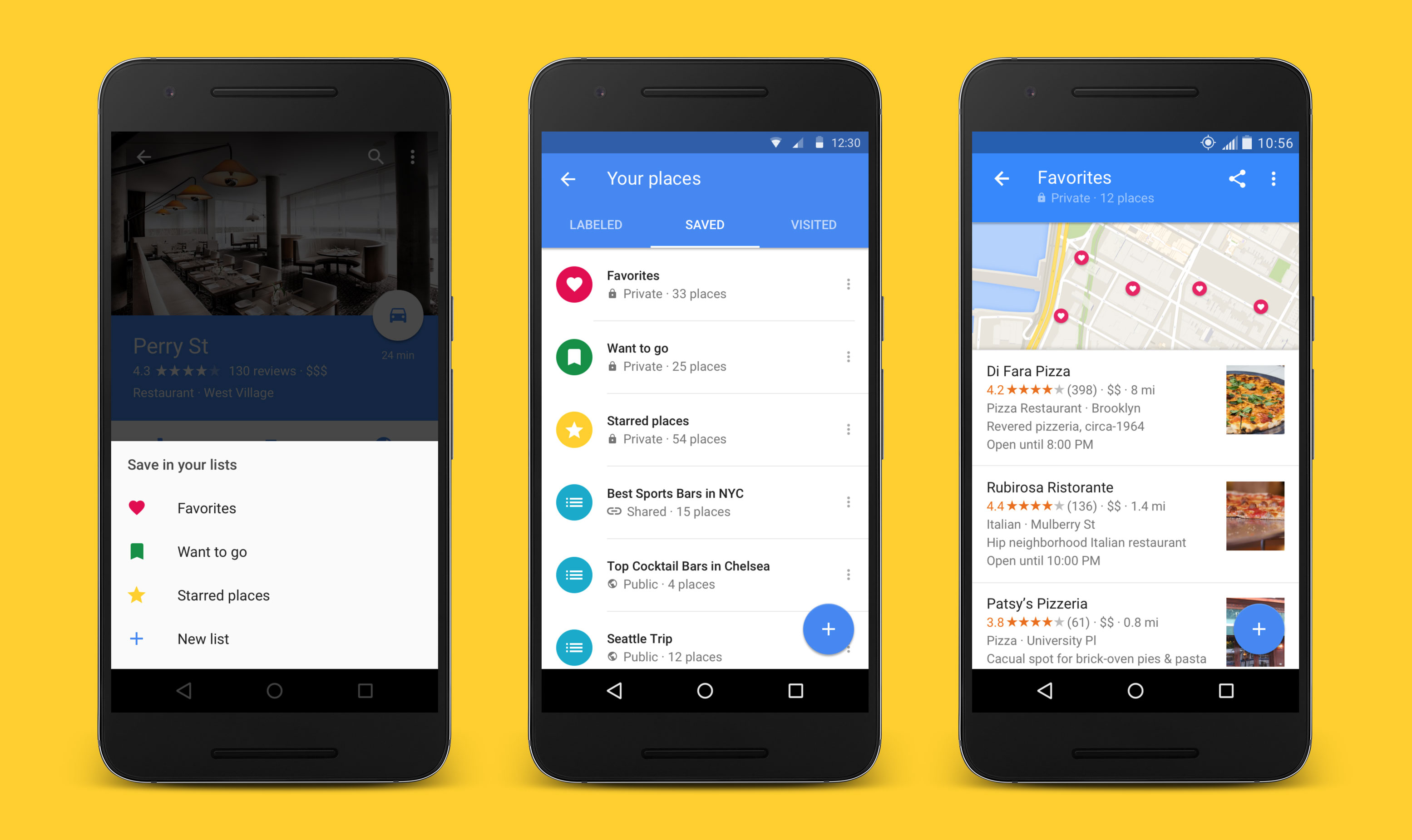 Google Maps lets you save and share favorite places with launch of on