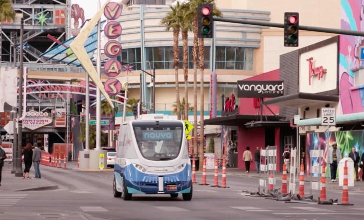 Las Vegas Shuttles >> Las Vegas Launches The First Electric Autonomous Shuttle On