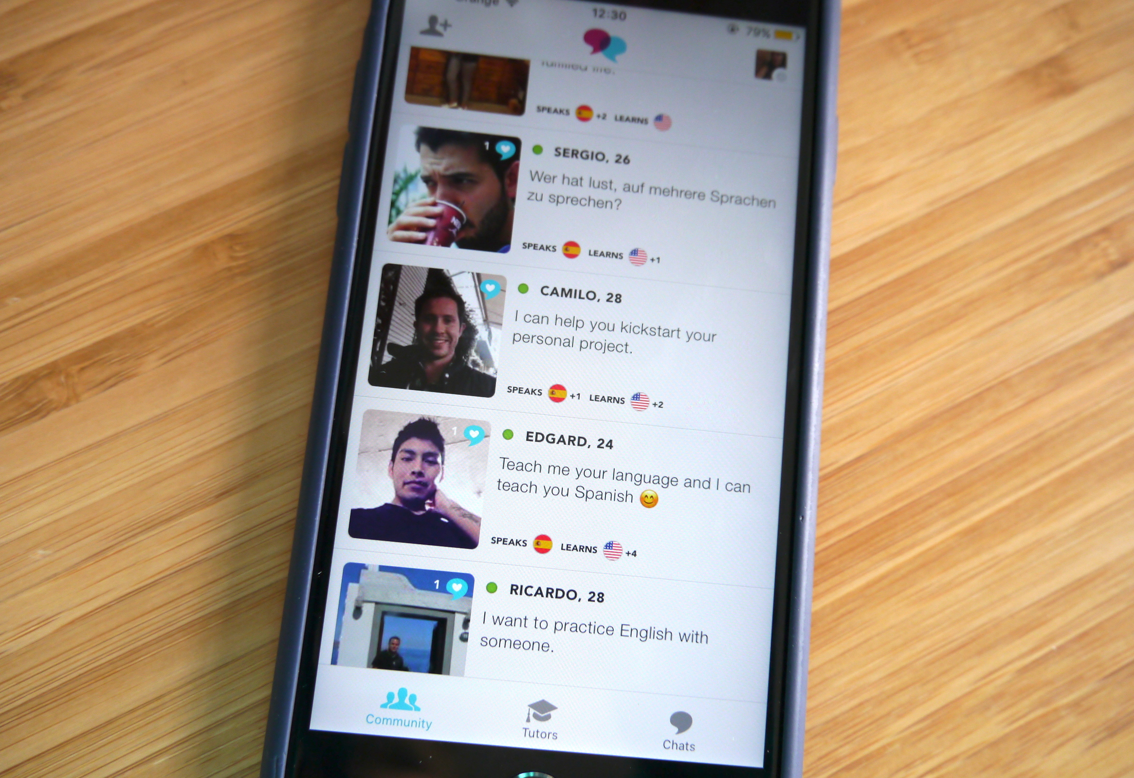 Tandem is a messaging app where language learners chat | TechCrunch