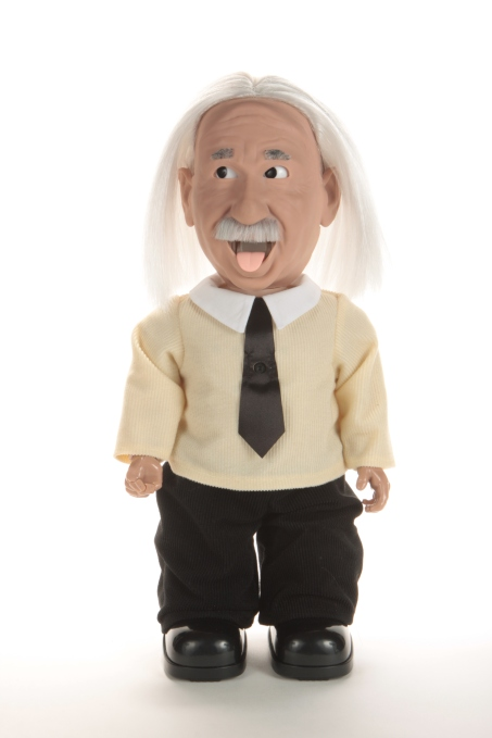 Hanson Robotics' Professor Einstein is an animated, humanoid robot that answers questions about science.
