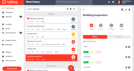 UpKeep gives companies an app to speed up the maintenance work order