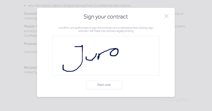 Juro Gets K To Optimize Sales Contract Workflow TechCrunch - Best of angel investor contract design