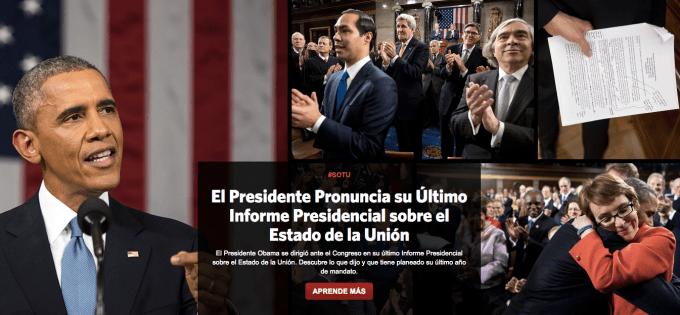 Obama White House website in Spanish