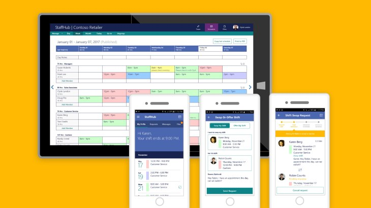 Microsoft Today Unveiled The Newest Addition To Its Office 365 Suite With Debut Of An Application For Shift Workers And Management Called StaffHub