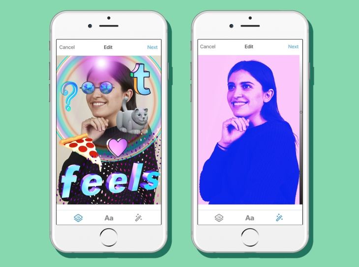 Tumblr brings photo filters and stickers to its iOS