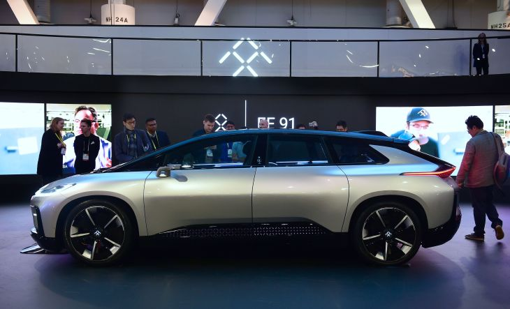 Us It Lifestyle Ces There S A Rare Moment Of Cheer For Floundering Electric Car Maker Faraday Future