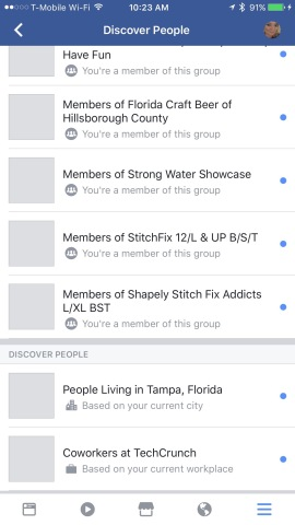 "Facebook's new ""Discover People"" feature wants to help you make"