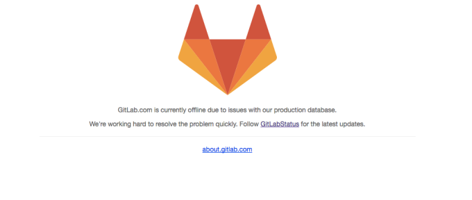 GitLab is down