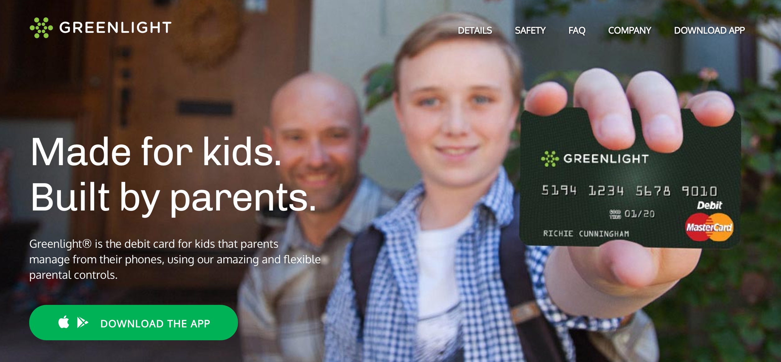 Greenlight Is A Debit Card For Kids That Parents Manage From Their Phones Techcrunch