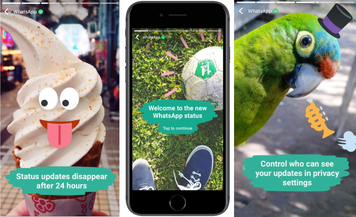 WhatsApp launches Status, an encrypted Snapchat Stories clone