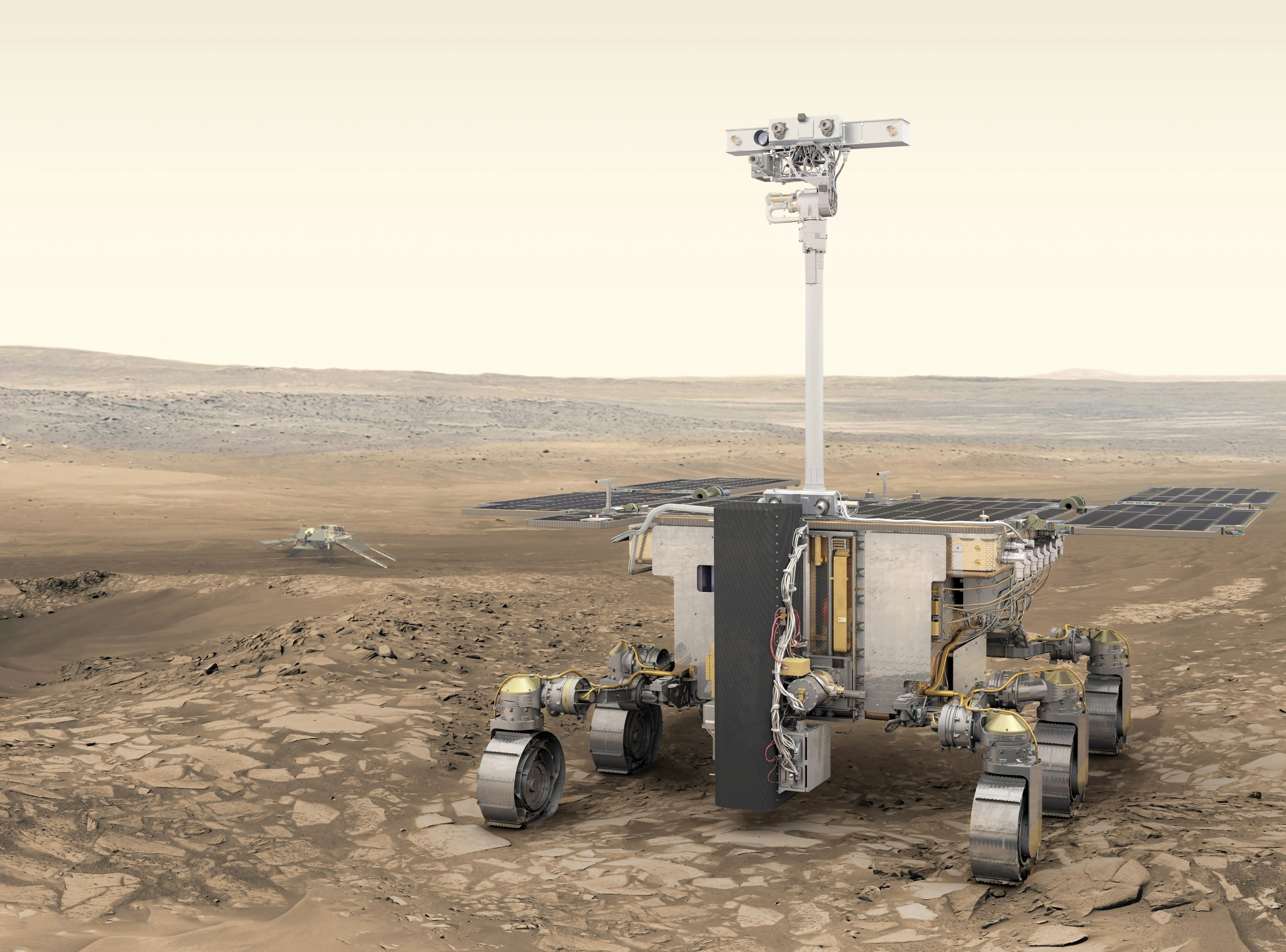 Esa Shows Off Sweet New Renders Of The Exomars 2020 Rover Techcrunch Infrared Video A Hovering Nasa Lander Heres Big Version