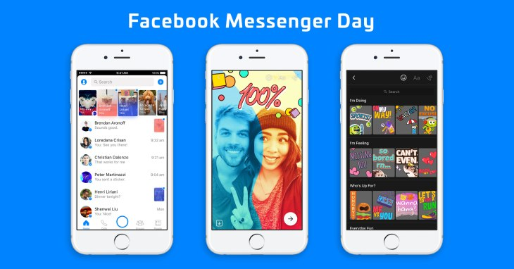 Facebook Messenger Day launches as a Snapchat Stories clone for