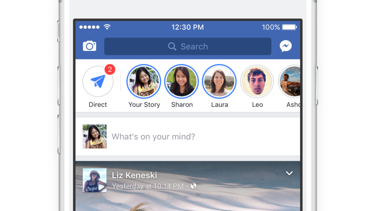 Facebook launches Stories in the main Facebook app | TechCrunch