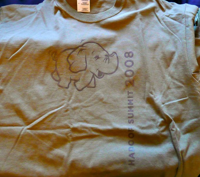 Hadoop elephant on a t-shirt