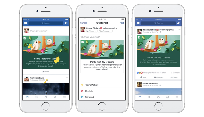 Facebook rolls out seasonal greetings at the top of the news feed its goodwill team which is behind efforts like friends day and various messages at the top of the feed including the recently added weather greetings m4hsunfo
