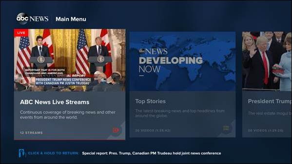 ABC News' app adds support for multi-stream viewing on Apple TV