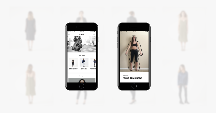 CALA's app fits designer clothing to your body using iPhone
